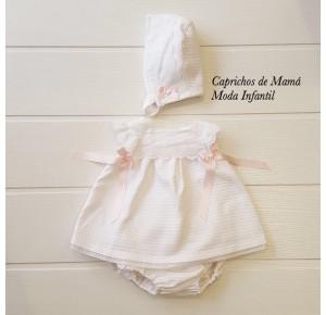 Jesusito bebé niña de Valentina Bebés piqué blanco