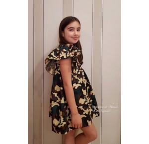Vestido niña de Mía y Lía estampado camuflaje