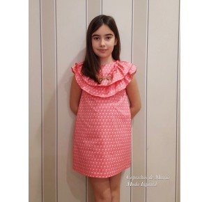 Vestido niña de Eve Children rosa palmeritas