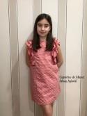 Vestido niña Carmesí de Eve Children plumeti