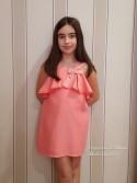 Vestido niña de Eve Children coral palmeras
