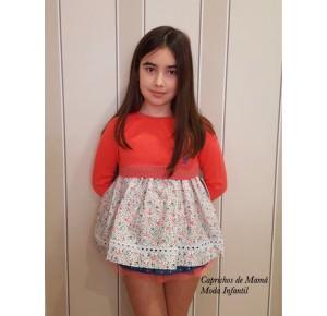 Conjunto braguita niña Celine de Eva Castro