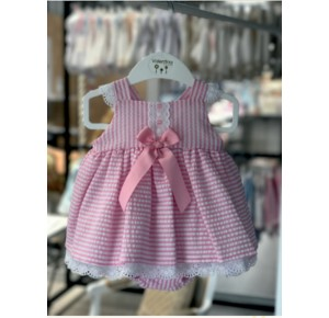 Jesusito bebé niña de Valentina Bebés rayas rosa