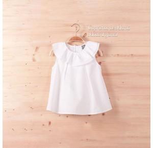 Camisa niña de Dadati plumeti blanco
