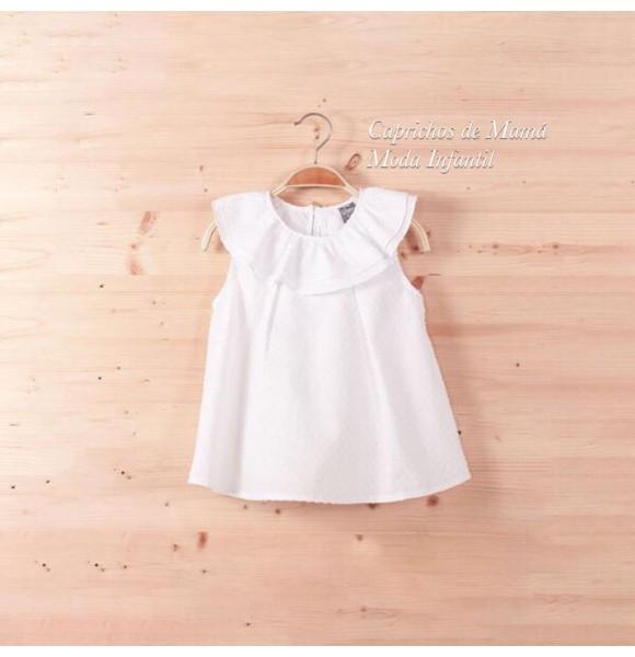 46aa76865 Camisa niña de Dadati plumeti blanco