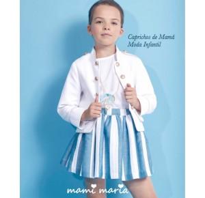 Levita niña Abril de Mami Maria piqué blanco