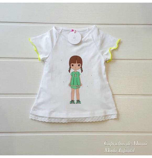 edb7ffbed Camiseta niña de Eva Castro amarillo flúor