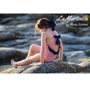 Bañador niña Santorini de La Martinica navy