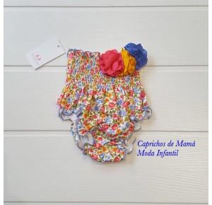 Cubrepañal bebé niña Primavera de Sonia Roura flores