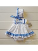 Jesusito bebé niña Zarzuela de Yoedu plumeti azul