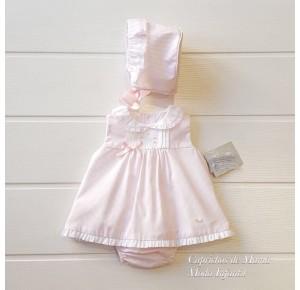 Jesusito bebé niña Aranjuez de Yoedu rayas rosa