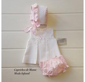 Jesusito bebé niña Valparaíso de Yoedu blanco y rosa