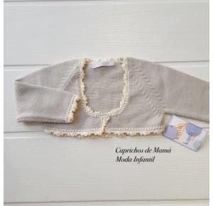 Chaqueta bebé Plata de Kauli cuello caja