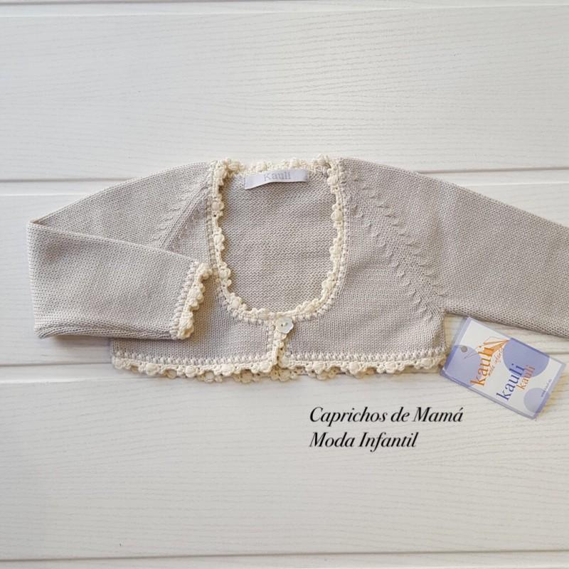 Chaqueta bebé Plata de Kauli cuello caja | Ropa Infantil