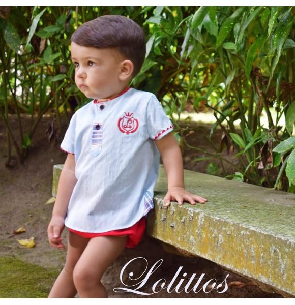 Conjunto bebé niño Frambuesa de Lolittos
