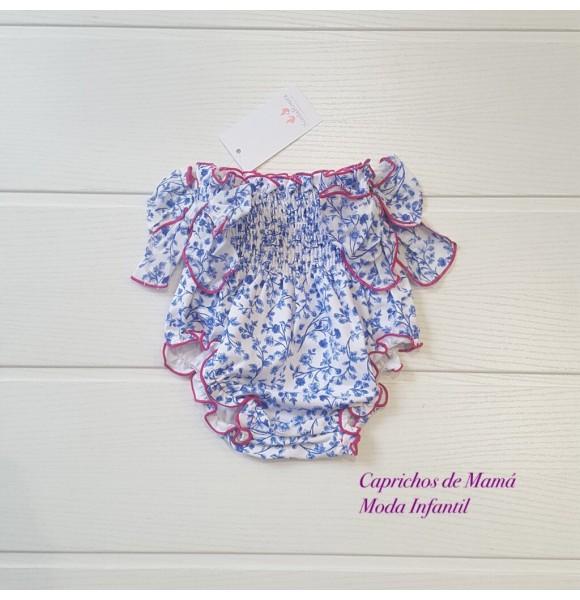 Cubrepañal bebé niña Mireia de Sonia Roura liberty