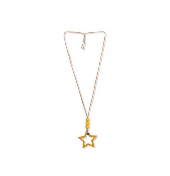 Collar Spike de Eve Children estrella mostaza
