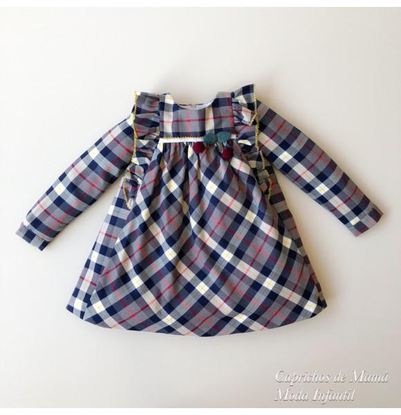 Vestido niña Cherry de Kauli cuadros