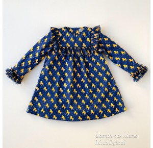 Vestido niña Unicornios y estrellas de Mon Petit
