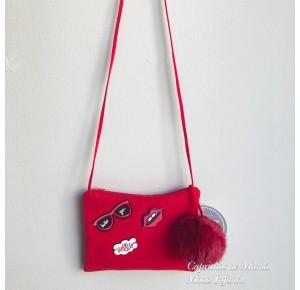 Bolso Gafas de Mon Petit rojo