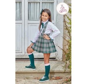 Conjunto niña camisa y falda Anna de Eva Castro