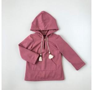 Sudadera niña de Baby Yiro rosa con topos