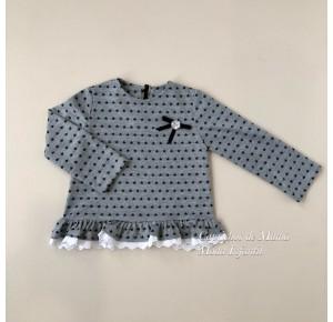 Sudadera niña de Baby Yiro gris con estrellas