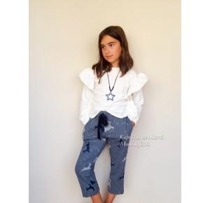 Conjunto niña camisa y pantalón de Mía y Lía ciervos