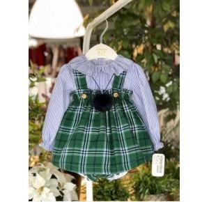 Conjunto bebé niña pichi y blusa de Valentina Bebés