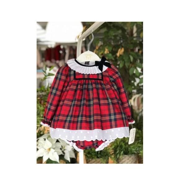 Jesusito bebé niña de Valentina Bebés escocés rojo