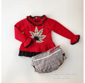 Conjunto niña jersey y short Nogal de Lolittos