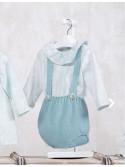 Vestido bebé niña Adivinanza de Yoedu verde empolvado
