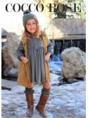 Vestido niña Mi Capitán de Coccó Rose kaki con chaleco