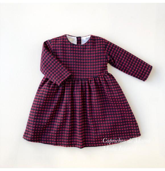 Vestido niña de Mía y Lía rojo cuadros