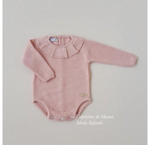 Pelele bebé niña Mountain de Eve Children punto rosa