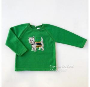 Jersey niño Gigi de Eva Castro verde perrito