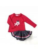 Conjunto niña jersey y braguita School de Coccó Rose