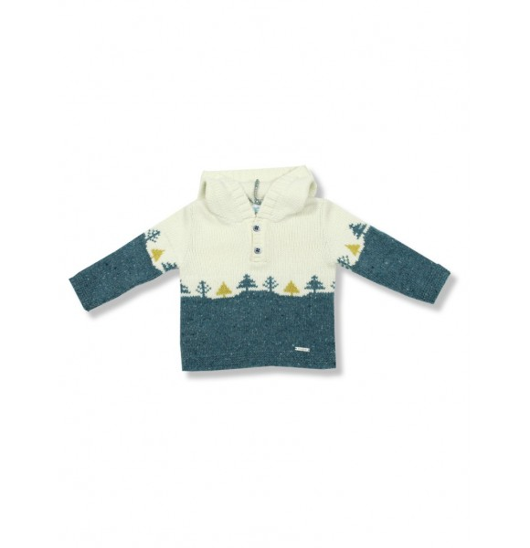 Jersey niño de Foque con capucha y greca de abetos
