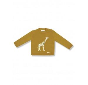 Jersey niño de Foque mostaza dibujo jirafa