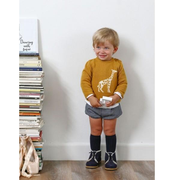 91001eada Conjunto bebé niño de Foque jersey mostaza