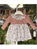 Vestido bebé niña de Valentina Bebés pájaros rosa