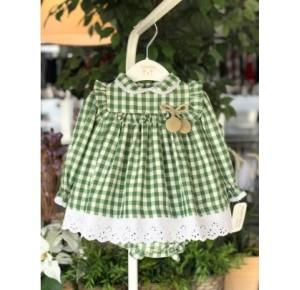 Jesusito bebé niña de Valentina Bebés vichy verde