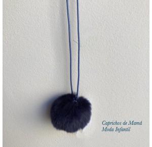Collar pompón de Valentina Bebés azul marino