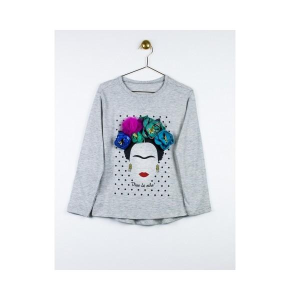 a8356c5ee Camiseta niña Frida de Lunares en Mayo gris