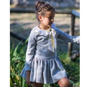Vestido niña Donald de La Martinica gris y amarillo