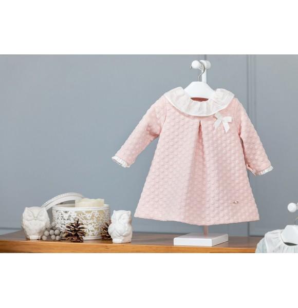 Vestido bebé niña Poemas de Yoedu rosa empolvado