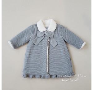 Abrigo bebé niña de Foque punto y borreguito