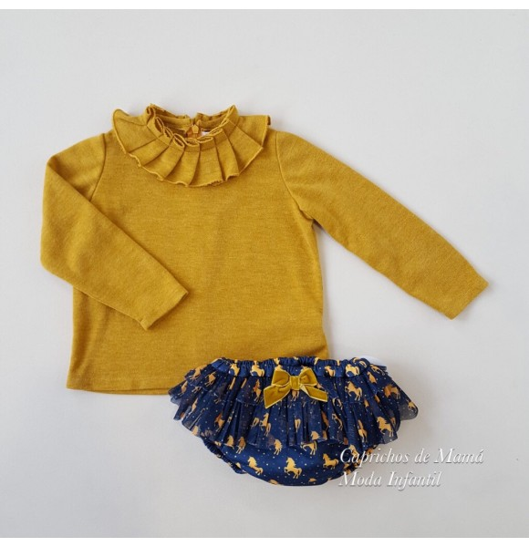 Conjunto jersey y braguita Unicornios de Mon Petit