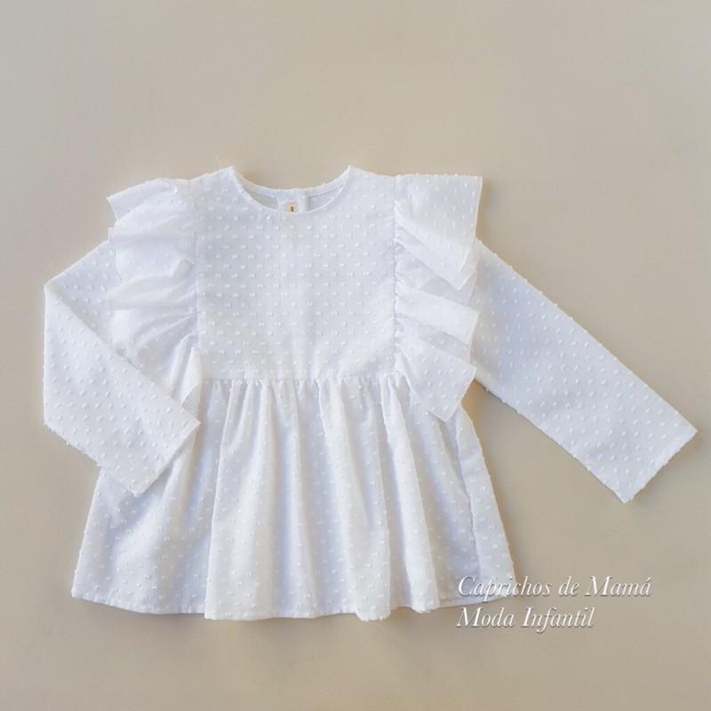 1e1cdae50 ... Camisa niña de Mía y Lía plumeti volantes ...