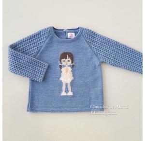 Jersey niña Justine de Eva Castro azul